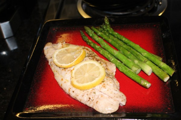 Red Snapper and Asparagus recipe