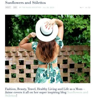 Southern Blog Society, Jaime Cittadino, Sunflowers and Stilettos