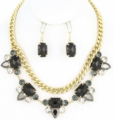 Elle B Candy Necklace Black
