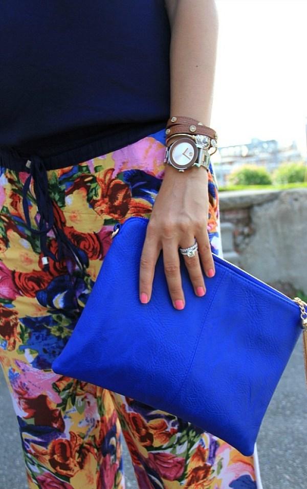 cobalt blue clutch