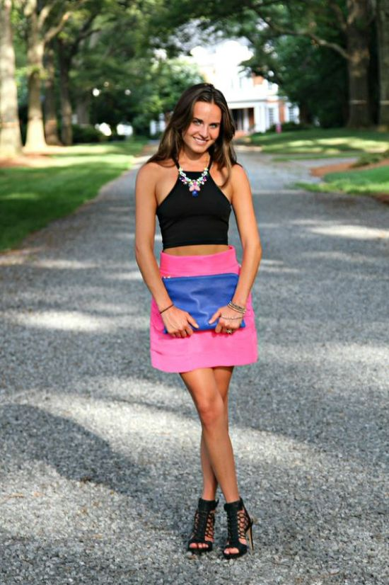 Crop Top and Neon Outfit
