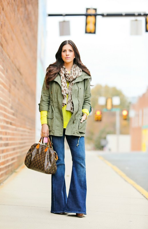 Bright Sweater and Utility Jacket