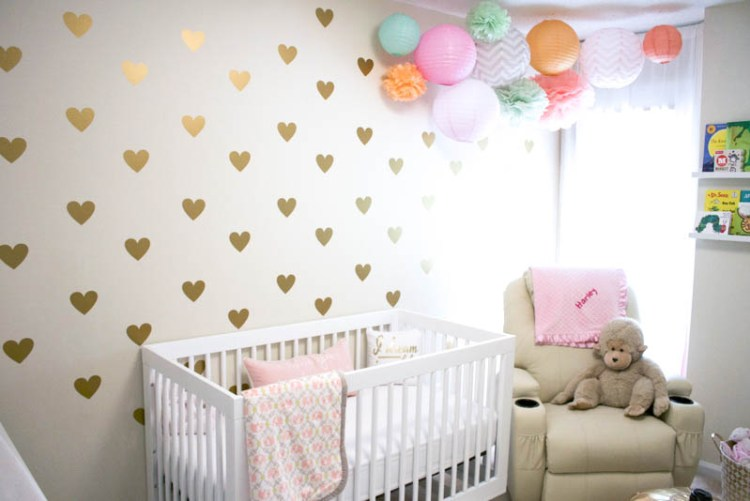 Gold Hearts Wall Decor