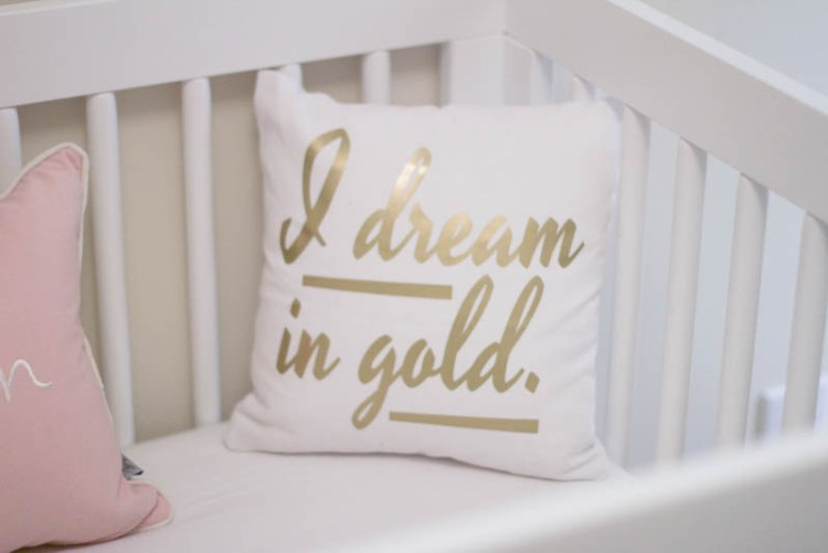 I Dream In Gold pillow