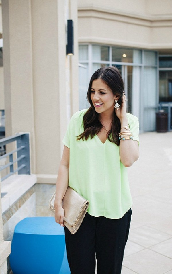Neon Green and black outfit