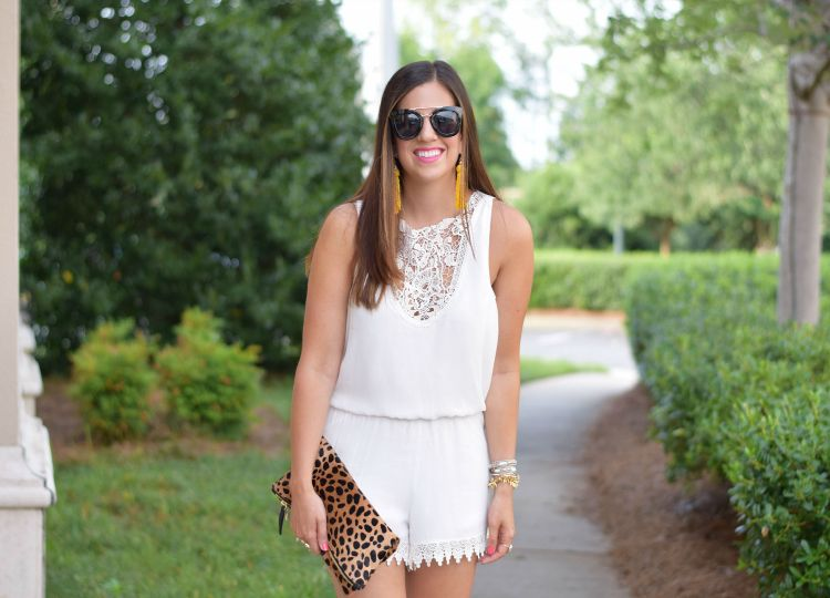 bridal white romper