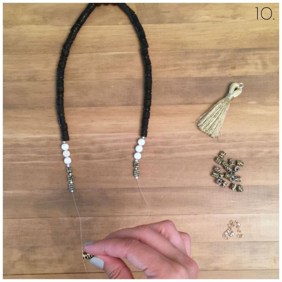 diy beaded tassel necklace and bracelet