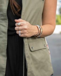 olive utility vest