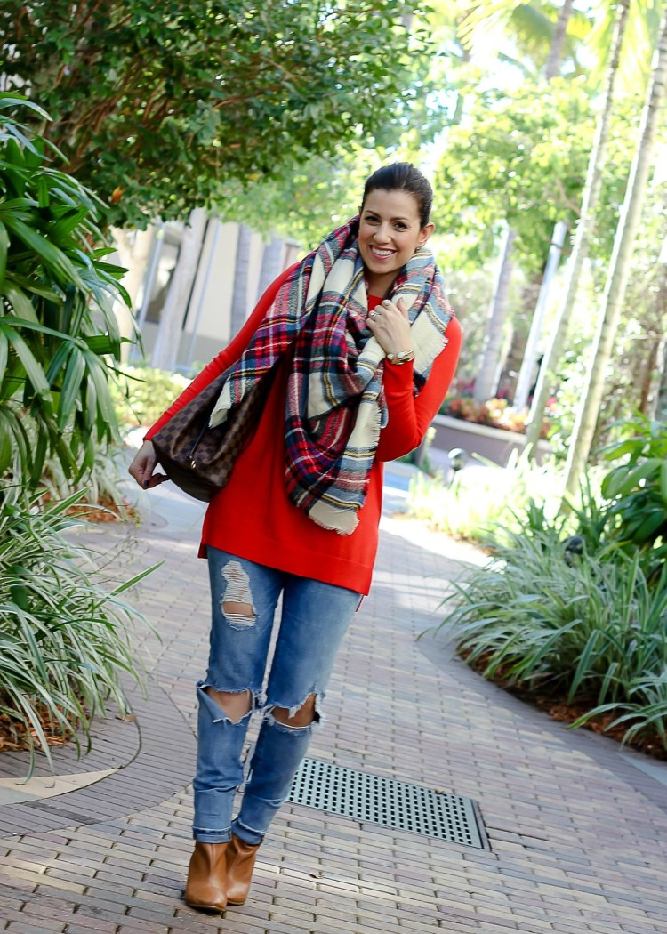 oversized plaid scarf, asos plaid scarf, Sunflowers and Stilettos blog, Florida fashion blogger