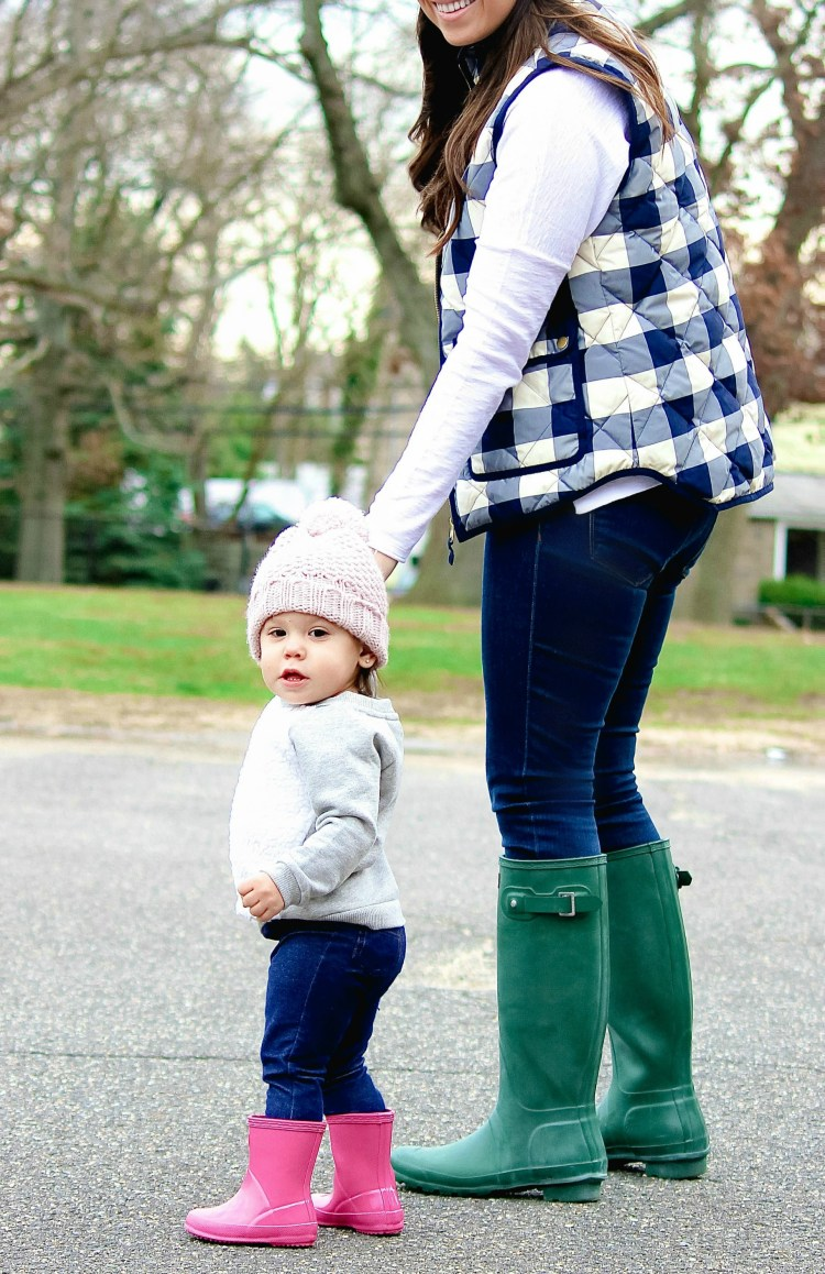 baby girl Hunter boots, pink Hunter boots for baby, Sunflowers and Stilettos mommy and me