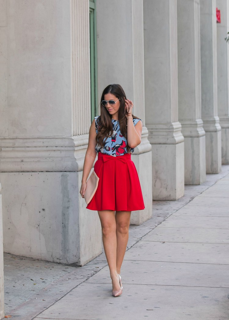 j crew floral top, perfect valentine's day outfit, Sunflowers and Stilettos