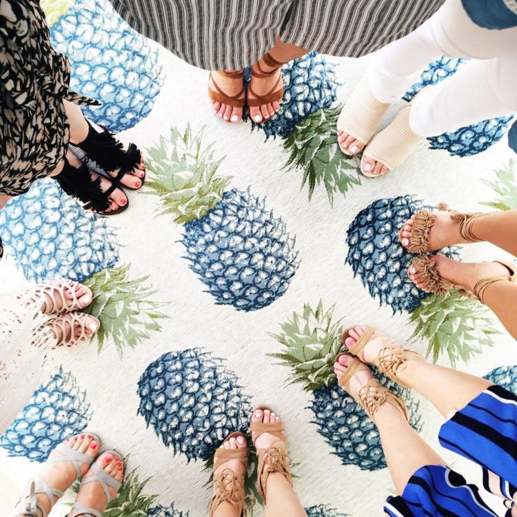 cutest pineapple rug, Sense Beach House Miami