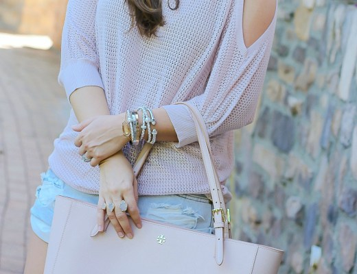 blush on blush outift, south florida fashion blogger