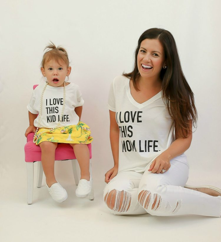 mom tee, mother daughter matching tees, mom life tee