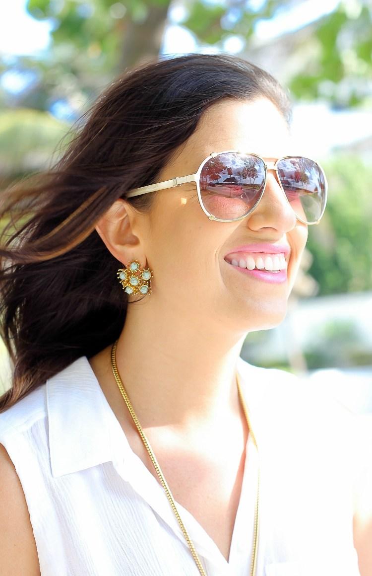 lele sadoughi dandelion earrings