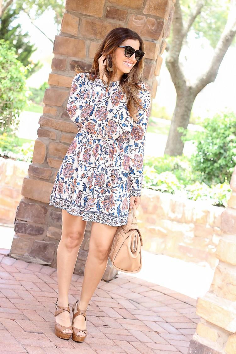 Jaime Cittadino, long sleeve floral dress
