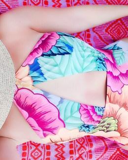 mara hoffman colorful swimsuit