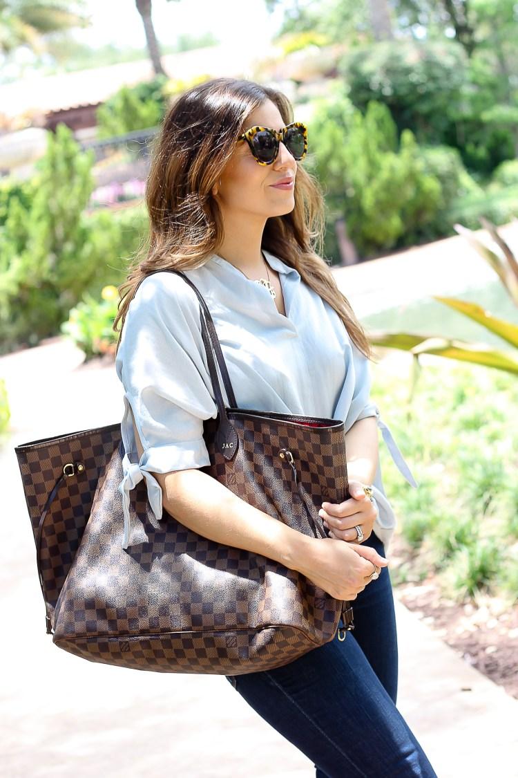 Louis Vuitton Neverfull GM mom bag