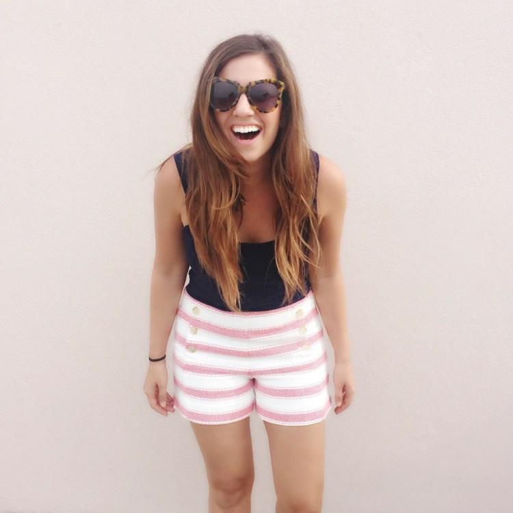 LOFT striped shorts