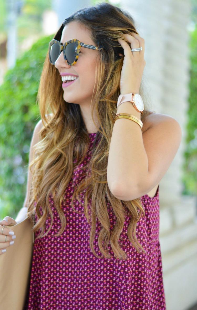 Fashion blogger Jaime Cittadino wearing a Christian Paul watch in South Florida.