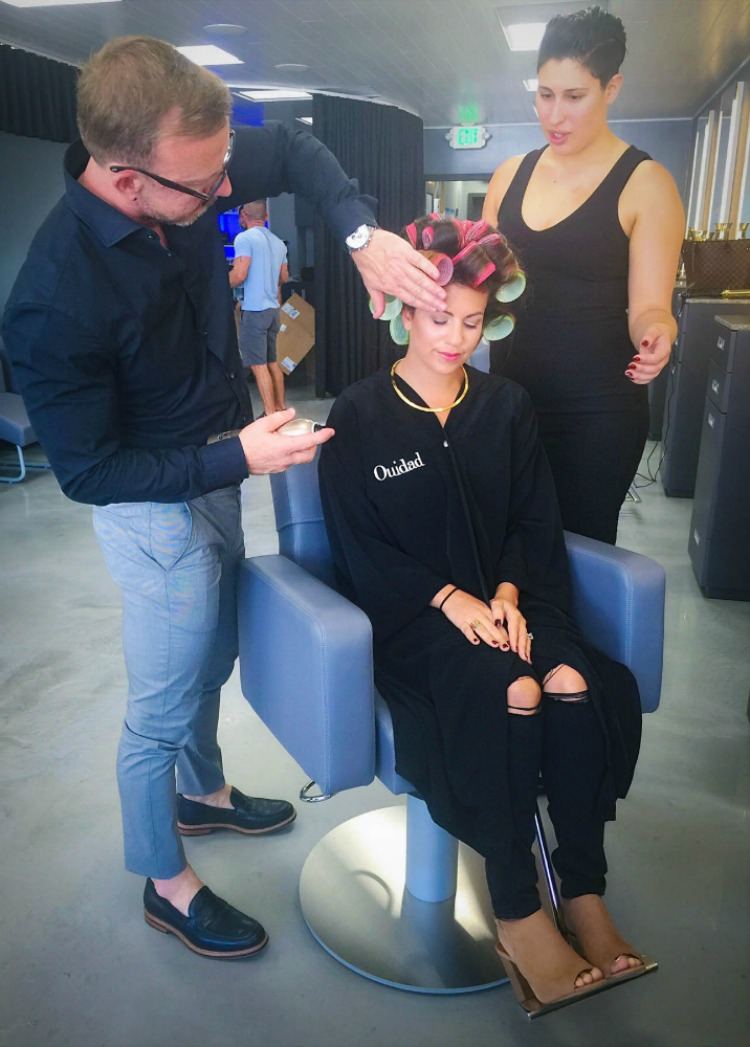 Fashion and Beauty Blogger Jaime Cittadino getting her hair done at Ouidad Fort Lauderdale