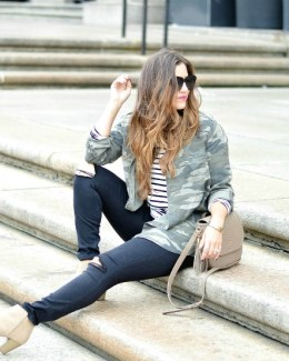 Camo and Stripes Pattern Mixing