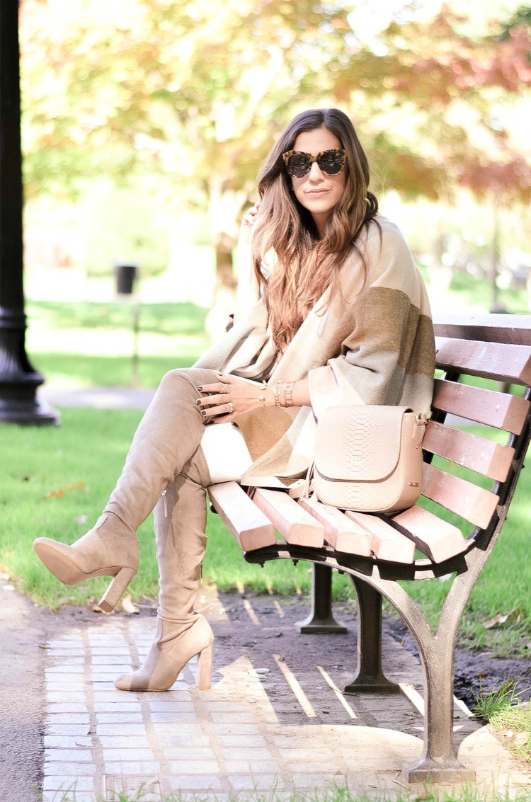 Outfit Inspo: white jeans in fall and winter, Styled by fashion blogger, Jaime Cittadino of Sunflowers and Stilettos