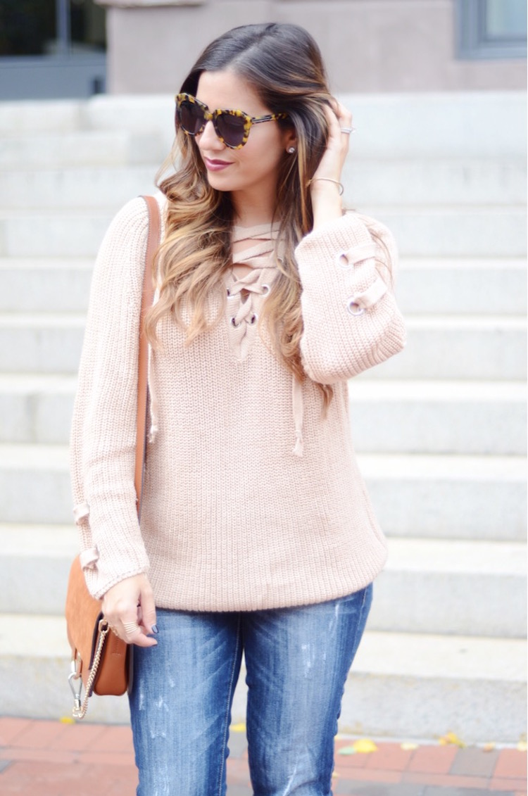 Best Lace Up Sweater