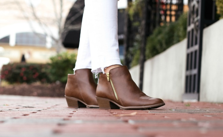 Payless savvy zip ankle booties