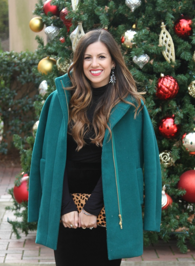 J Crew City Coat in Jade