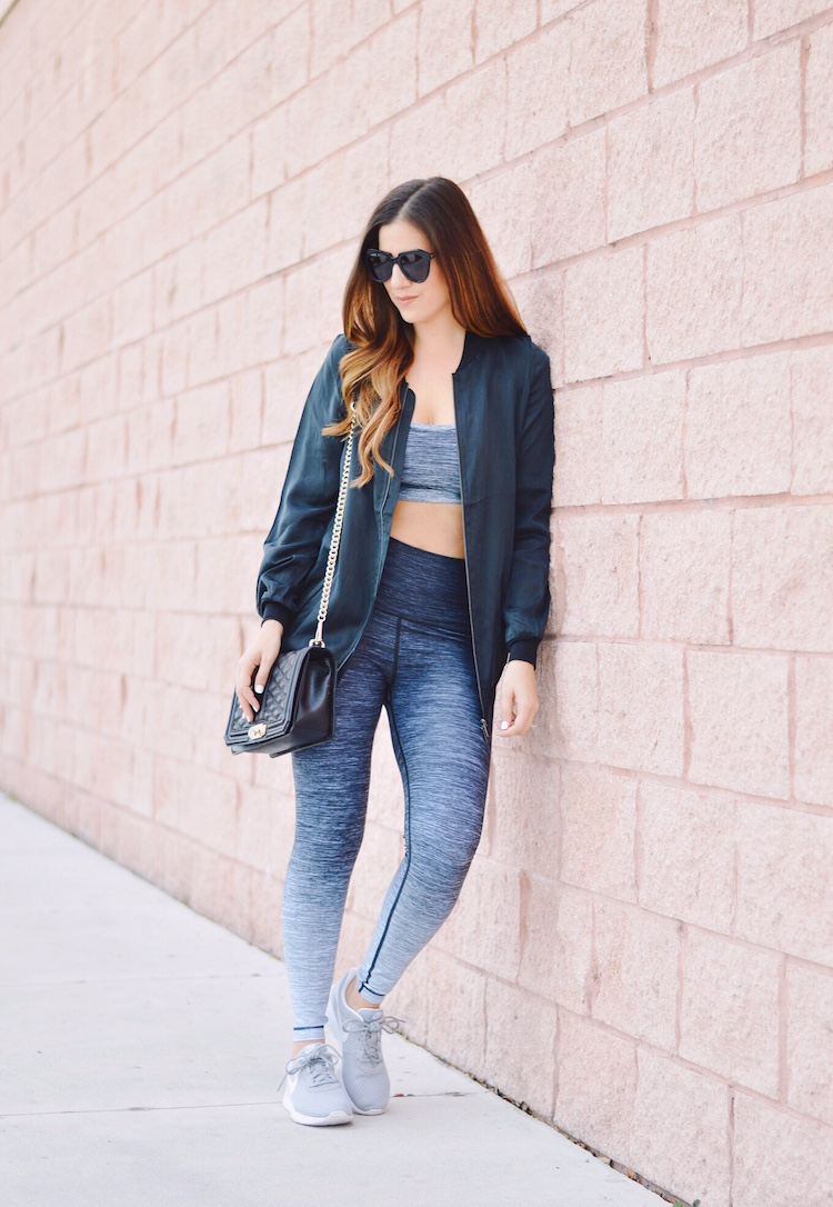 WITH Wear It To Heart Activewear worn by fashion and lifestyle blogger, Jaime Cittadino of Sunflowers and Stilettos