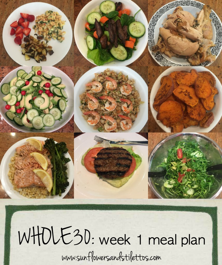 Whole30 Week 1 Meal Plan