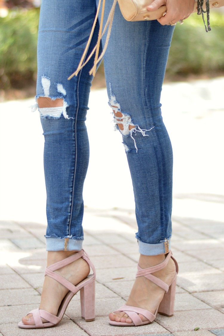 Steve Madden Christey Wraparound Ankle Tie Sandal worn by fashion blogger Jaime Cittadino of Sunflowers and Stilettos