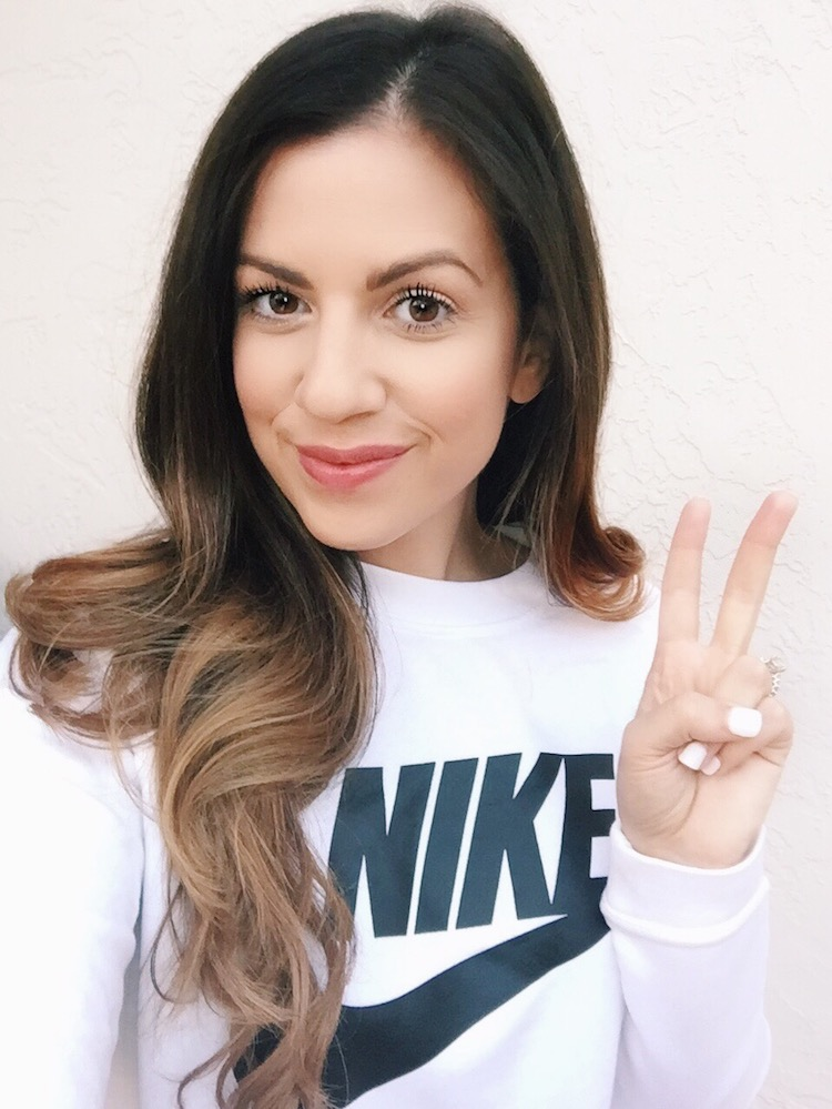 Nike Sweatshirt, athleisure on Jaime Cittadino