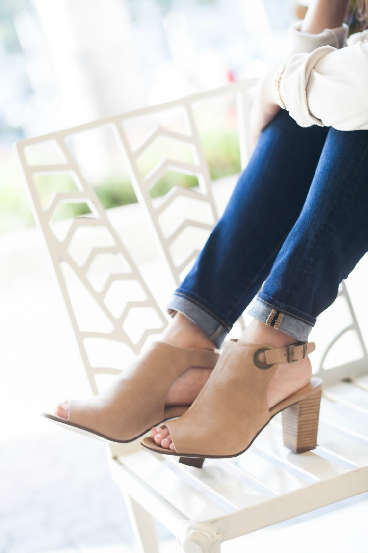 Marks & Spencer tan booties for Spring