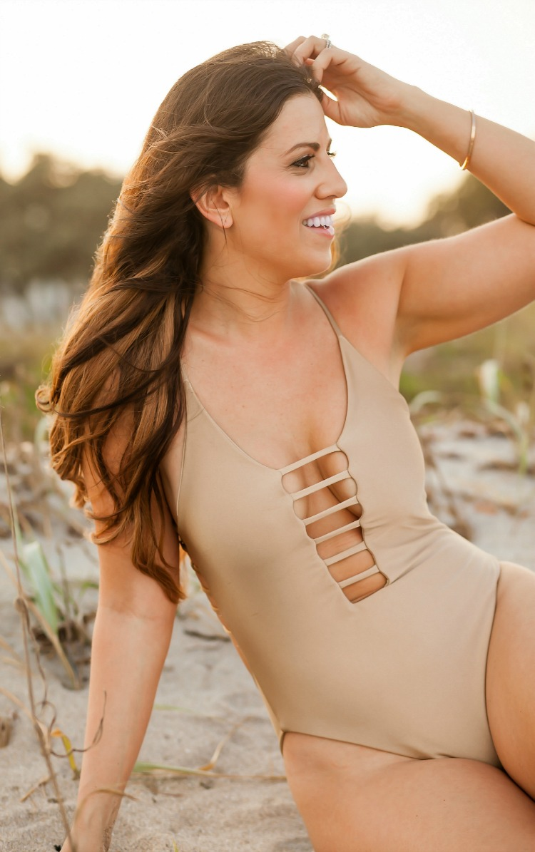 Montce Swim Cage One-Piece worn by Florida Fashion and Lifestyle Blogger, Jaime Cittadino of Sunflowers and Stilettos