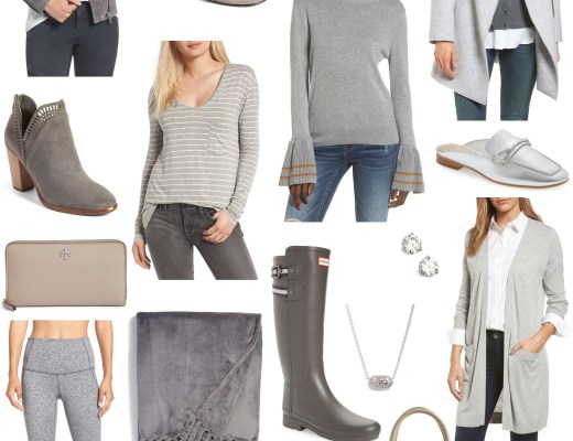 Nordstrom Anniversary Sale // Grey Mood Board // Sunflowers and Stilettos Fashion & Lifestyle Blog