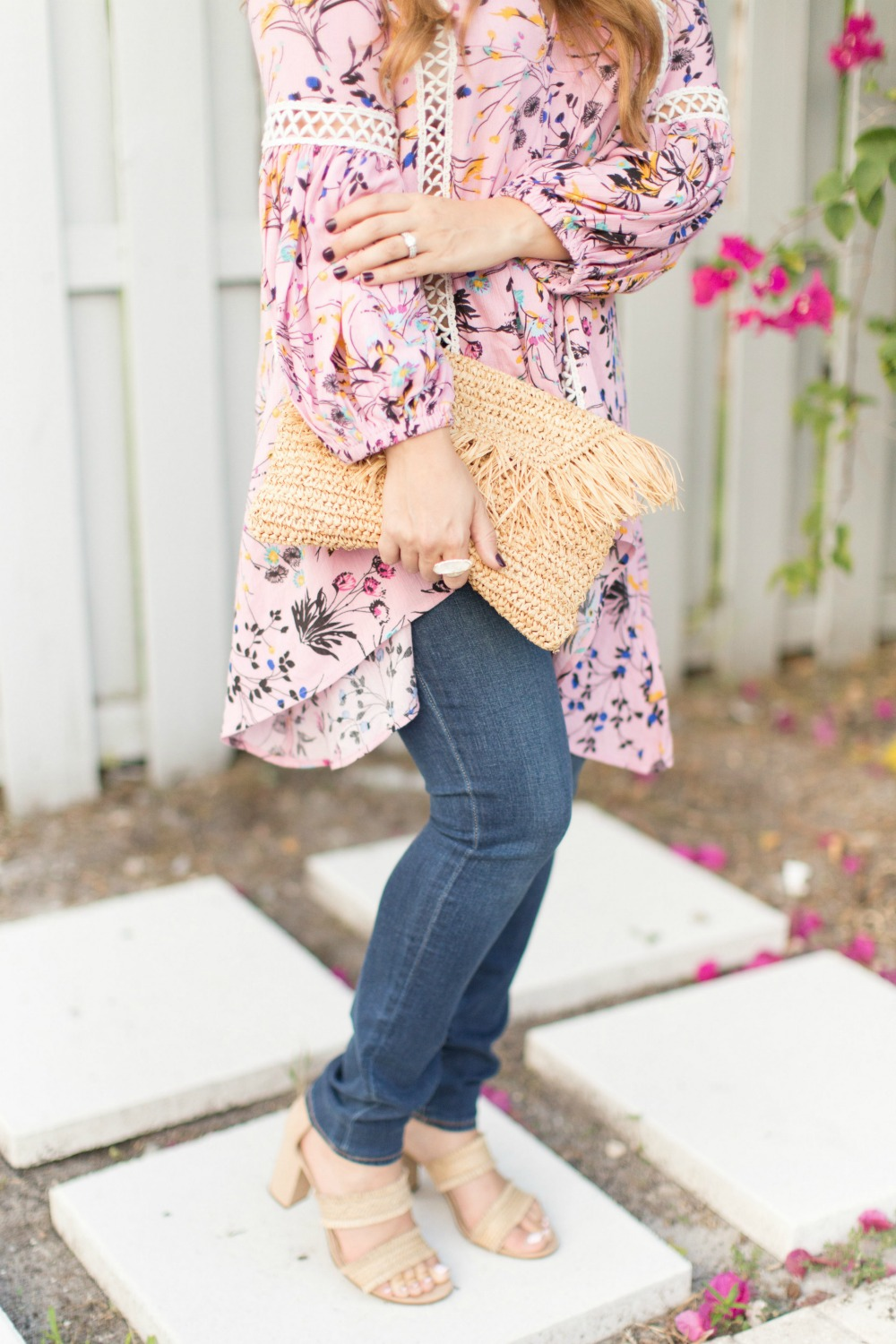 Chicwish flowy tunic with skinny jeans_Summer to Fall transitional outfit