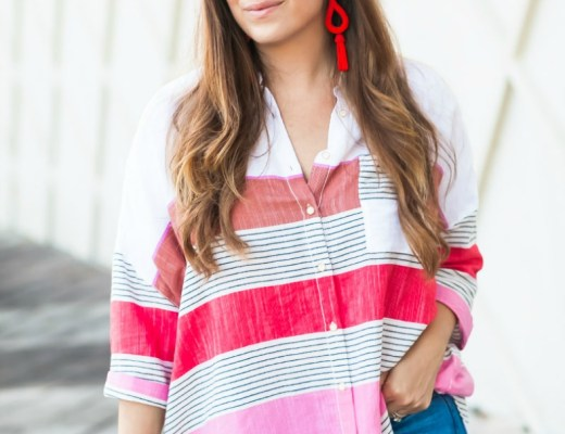 Anthropologie colorblock button down shirt