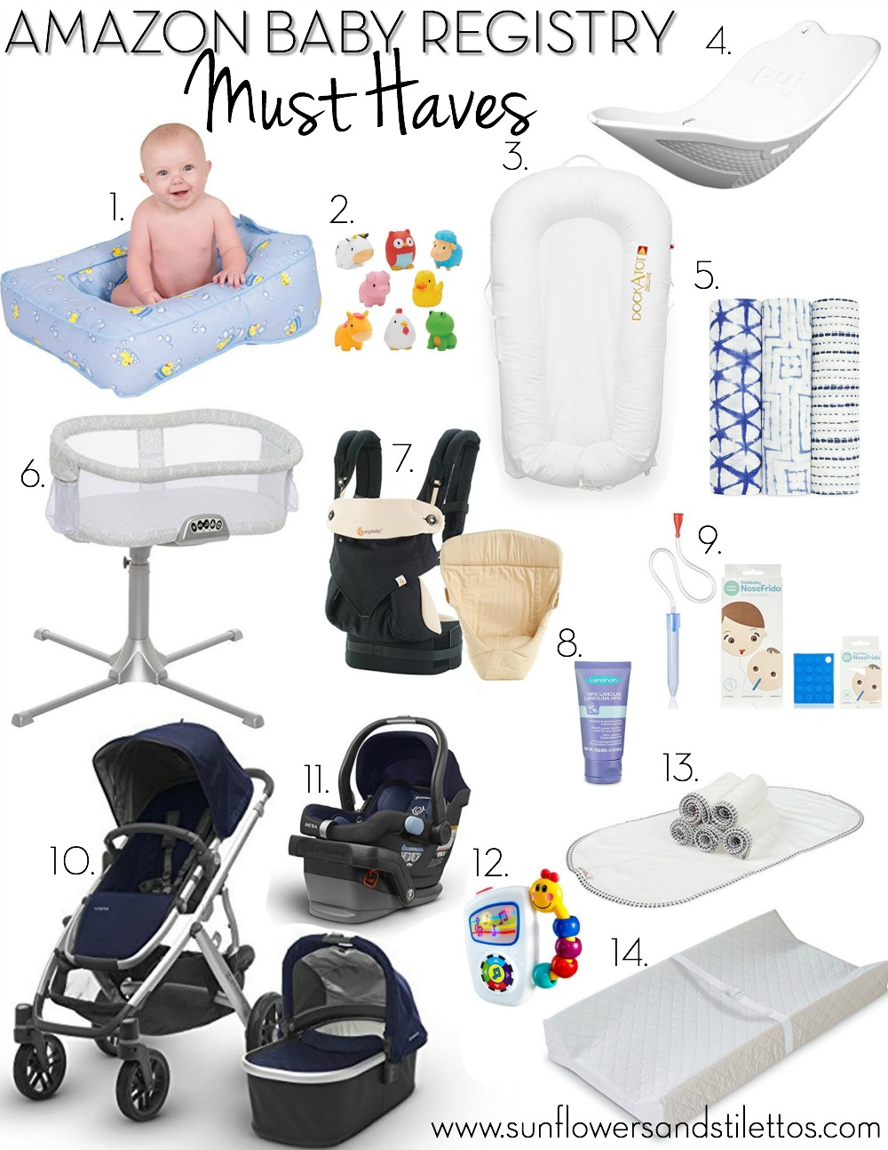 Amazon Baby Registry Must Haves by Sunflowers and Stilettos blog _ best baby items _ newborn essentials