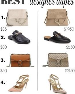 Best Designer Dupes _ Gucci Bag Dupe _ Gucci Loafer Dupe _ Valentino Rockstud Dupe _ Chloe Bag Dupe