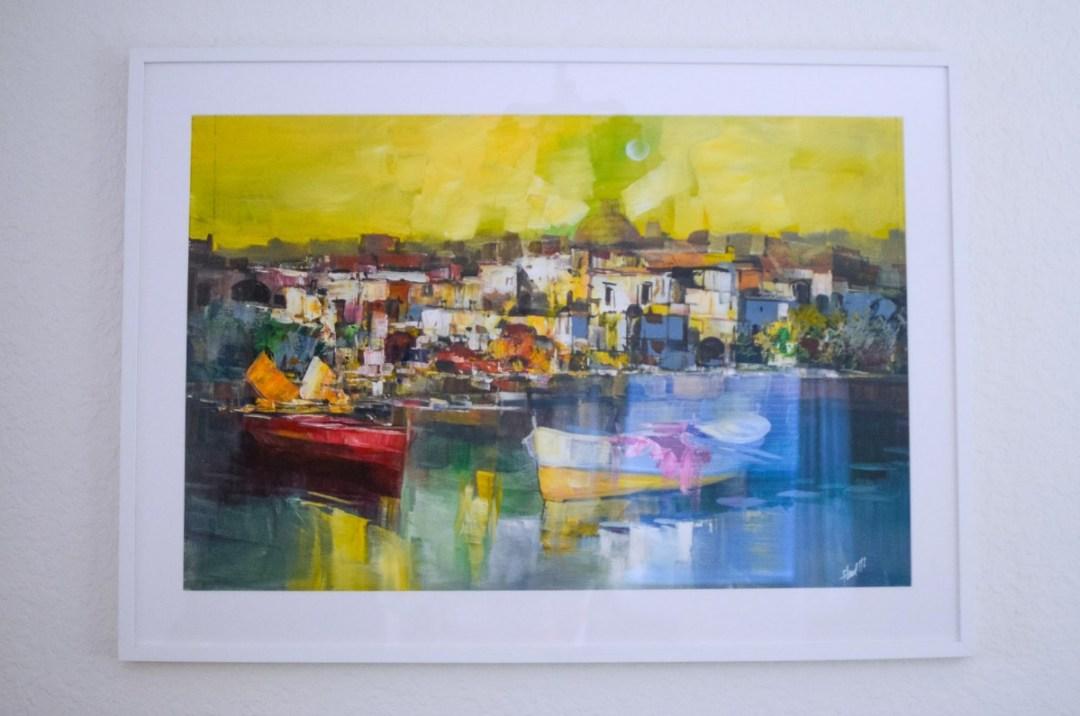 Framebridge custom frame_white gallery frame