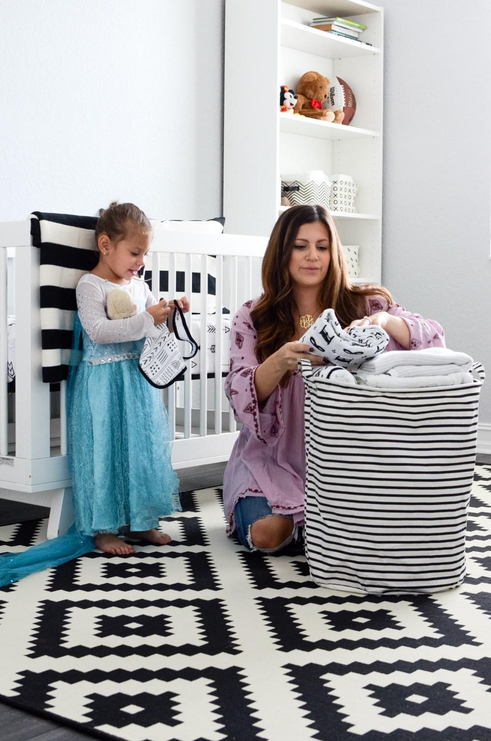 baby boy nursery ideas, black and white nursery