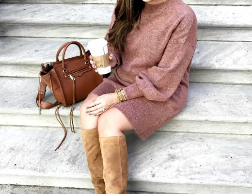 How to style a sweater dress for fall and winter by Sunflowers and Stilettos fashion blog