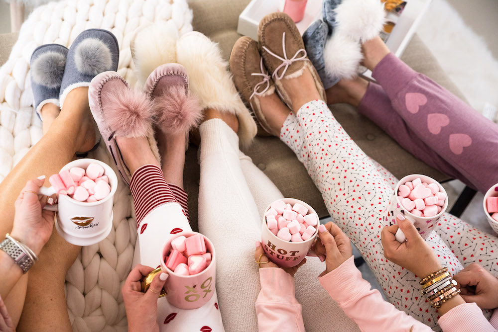 cozy galentine's day party