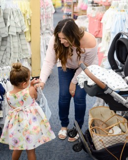 Florida Fashion and Lifestyle blogger Jaime Cittadino with daughter, Harley at buybuy BABY