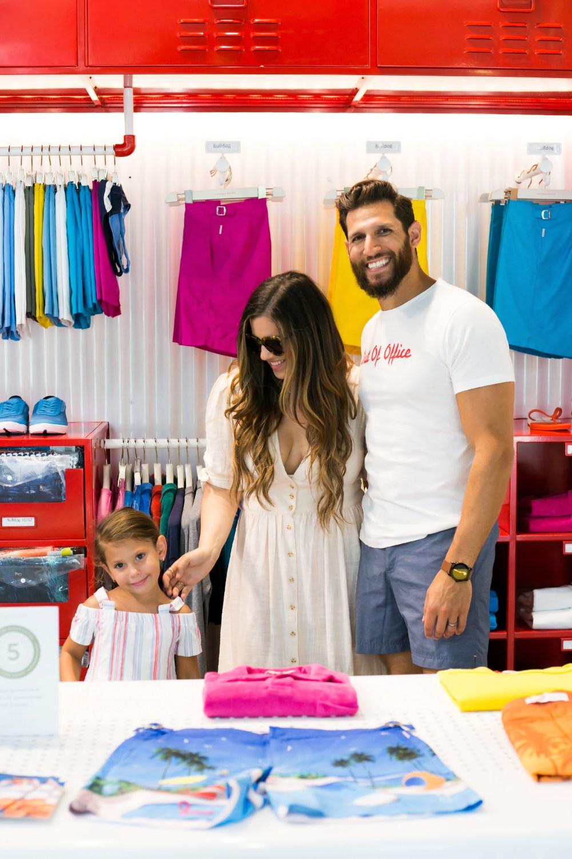 Jaime Cittadino and family shopping at The Royal Poinciana Plaza in Palm Beach