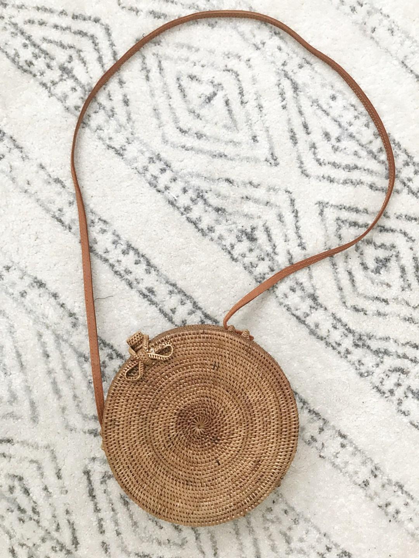 round straw bag, circle straw bag