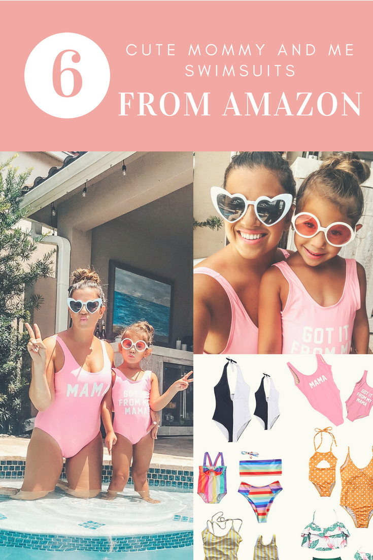 cute mommy and me swimsuits from Amazon