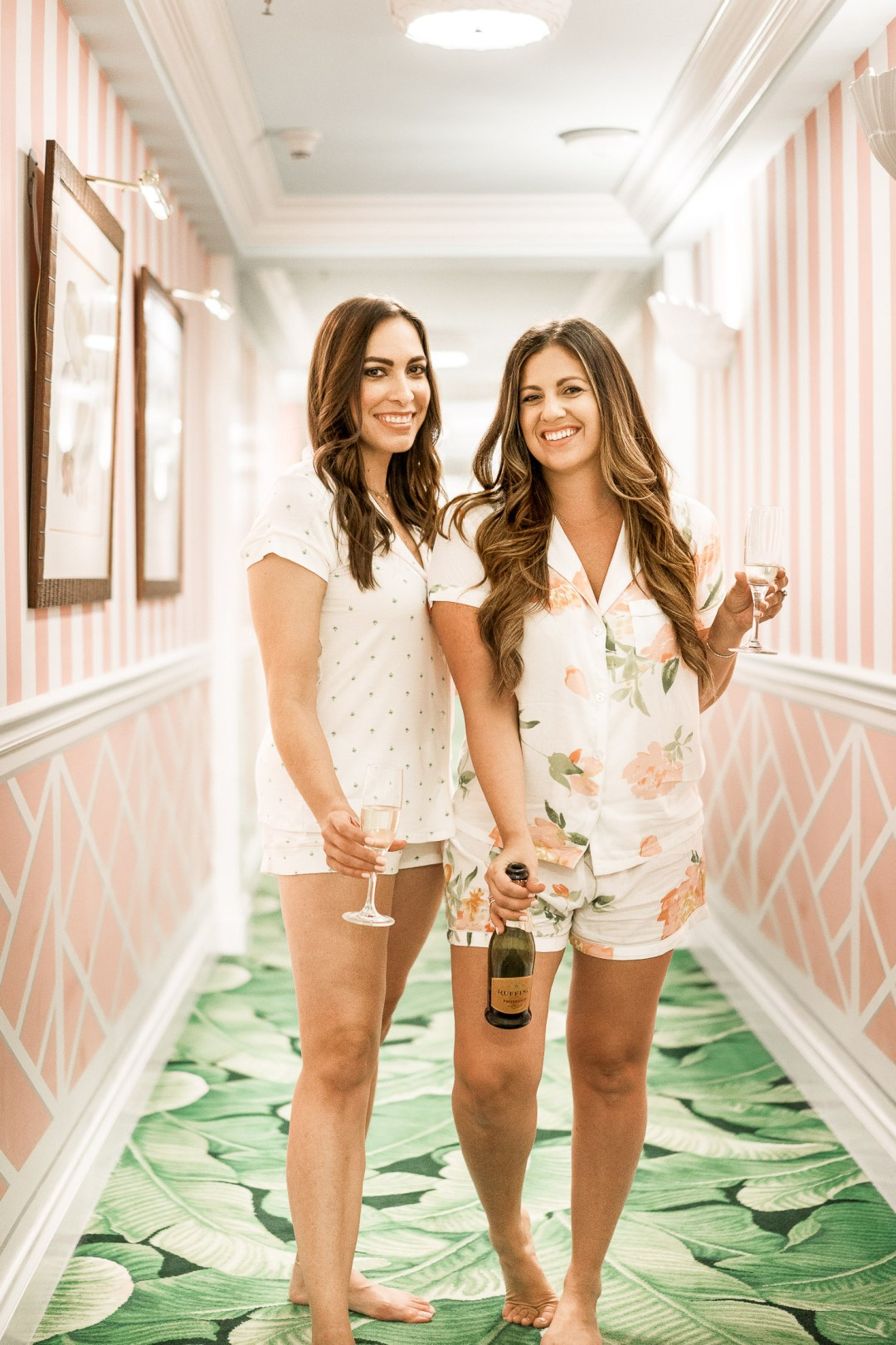 the-colony-palm-beach-hotel-review-eberjey-palm-print-pajamas-jaime-sunflowers-stilettos-aglamlifestyle-south-florida-blogger-girls-weekend-trip